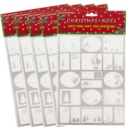 JAM Paper® Christmas Gift Tag To From Holiday Stickers, Silver Foil, 5 packs of 40 (2207016163g)