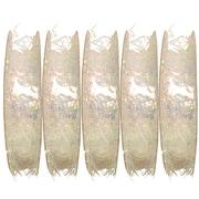 JAM Paper – Ruban à plumes, 3 verges par bobine, blanc métallique, 5/paquet (2209816341g)