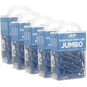 Jam PaperMD – Trombones de taille large, bleu pâle, 375/paquet