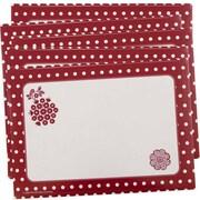 JAM PaperMD – Étiquettes-cadeaux de Noël, 7 x 5 po, rouge, 40/paquet