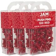 Jam PaperMD – Punaises en métal, rouge, 300/paquet
