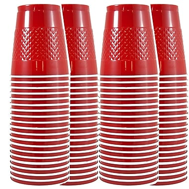 JAM Paper® Plastic Cups, 12 oz, Red, 4 packs of 20 (2255520700g)