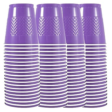 JAM Paper® Plastic Cups, 12 oz, Purple, 4 packs of 20 (2255520707g)