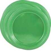 JAM PaperMD – Assiettes rondes de fête en plastique, 9 po, vert, paquet de 100