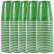 JAM PaperMD – Gobelets en plastique pour fêtes, 12 oz, vert, 100/paquet