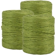 JAM Paper® Kraft Twine, 73 Yards, Lime Green, 3/Pack (267820978g)