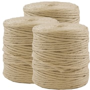 JAM Paper® Kraft Twine, 73 Yards, Ivory, 3/Pack (267820980g)