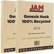 Jam PaperMD – Papier recyclé 28 lb, 8 1/2 x 11 po, Gensis son de blé, 200/paquet