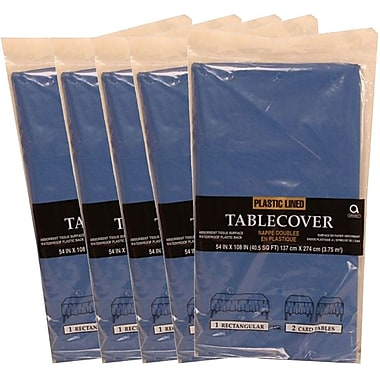 JAM Paper® Paper Table Covers, Blue Table Cloths, 5/Pack (291323329g)