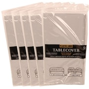 JAM Paper® Paper Table Covers, Silver Table Cloths, 5/Pack (291325379g)