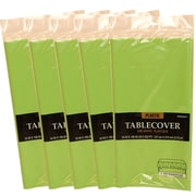 JAM Paper® Plastic Table Covers, Lime Green Table Cloths, 5/Pack (291423357g)