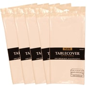 JAM Paper® Plastic Table Covers, White Table Cloths, 5/Pack (291423361g)