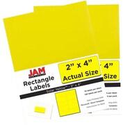 JAM PaperMD – Étiquettes d'adresse pour le courrier, 2 x 4 po, jaune soleil, 240 par paquet