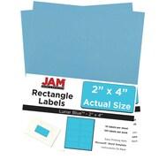 JAM PaperMD – Étiquettes d'adresse pour le courrier, 2 x 4 po, bleu lune, 240 par paquet