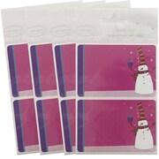 JAM PaperMD – Étiquettes-cadeaux porte-nom avec bonhomme de neige, 2 1/4 x 3 1/2 po, 2/page, 96/paquet