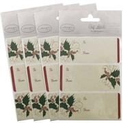 JAM PaperMD – Étiquette-cadeau porte-nom, 2 1/4 x 3 1/2 po, 2/page, 96/paquet, ivoire