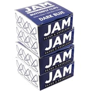 JAM Paper® Butterfly Paper Clips, Dark Blue Paperclips, 4 packs of 15 (332BYbug)