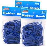 JAM Paper Rubber Bands, #33 Size, Blue Rubberbands, 300/Pack (333RBbug)