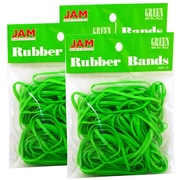 JAM Paper® Rubber Bands, #33 Size, Green Rubberbands, 300/Pack (333RBgrg)