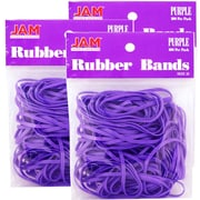 JAM Paper - Bandes élastiques no 33 en caoutchouc violet, 300/paquet (333RBPUG)