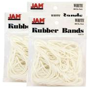 JAM Paper - Bandes élastiques, no 33, en caoutchouc blanc, 300/paquet (333RBWHG)