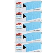 JAM Paper® Standard Size Colourful Staples, Blue, 5/Pack (335bug)
