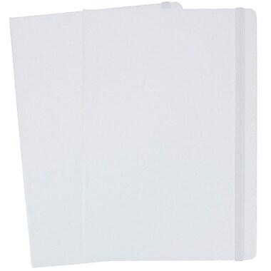 JAM PaperMD – Cahiers de notes à couverture rigide avec fermeture à bande élastique, 5 7/8 x 8 1/2 po, blanc, 2/pqt