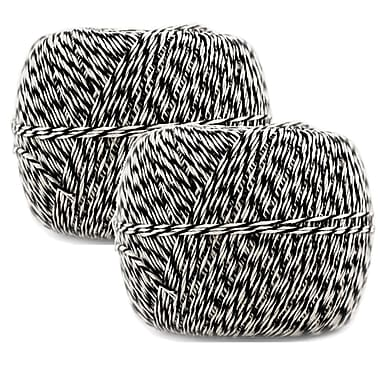 JAM Paper® Bakers Twine, 500 Yards, Black and White, 2/Pack (349527466g)