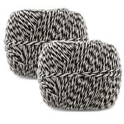 JAM Paper® – Ficelle lieuse, 500 verges, noir et blanc, paq./2 (349527466g)