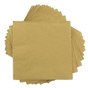 JAM Paper® Small Beverage Napkins, Small, 5 x 5, Gold, 10 packs of 50 (356028327g)