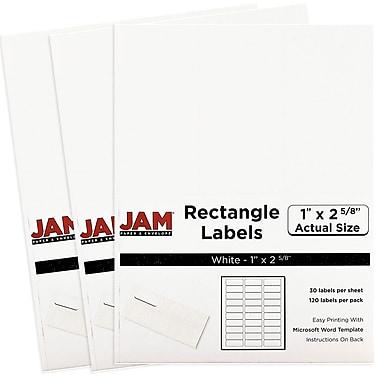 JAM PaperMD – Étiquettes postales, 2 5/8 x 1 po, blanc, 360 par paquet