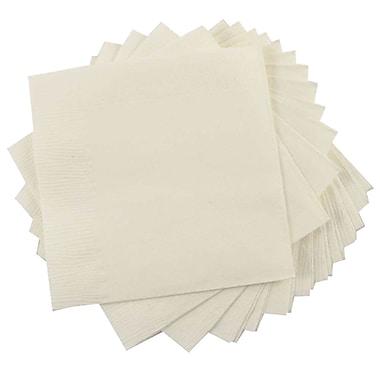 JAM PaperMD ® Petites serviettes à boissons, 5 x 5, ivoire, 10 paquets de 50 (5255620721g)