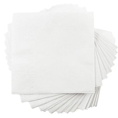 JAM PaperMD – Petites serviettes à boissons, 5 x 5, blanc, 10 paquets de 50 (5255620731g)