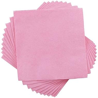 JAM PaperMD – Serviettes de table carrées de taille moyenne, 6,5 x 6,5, rose bébé. 10 paquets de 50 (6255620714g)