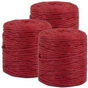 JAM Paper® Kraft Twine, 73 Yards, Red, 3/Pack (67821706g)