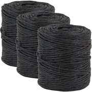 JAM Paper® Kraft Twine, 73 Yards, Black, 3/Pack (67821707g)