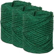 JAM Paper® Kraft Twine, 73 Yards, Green, 3/Pack (67825361g)