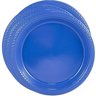 JAM Paper - Assiettes rondes en plastique, petit, 7 po, bleu, 4 paquets de 20 (7255320674G)