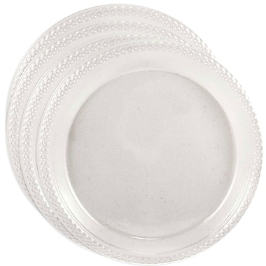 JAM Paper® Round Plastic Plates, Small, 7 Inch, Clear, 4 packs of 20 (7255320678g)