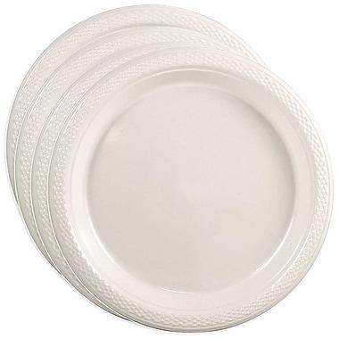 JAM Paper - Petites assiettes rondes en plastique, 7 po, blanc, 4 paquets de 20 (7255320690G)