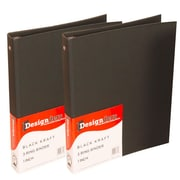 JAM Paper® Kraft Binder, 1 Inch, Black, 2/Pack (751KBLg)