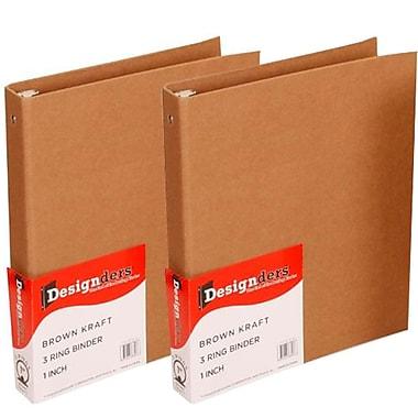 JAM PaperMD – Reliures Kraft à couverture recyclée, 1 po, naturel, 2/pqt