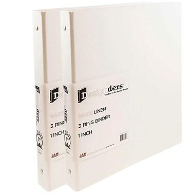JAM PaperMD – Reliure en lin, 1 po, blanc, 2/pqt