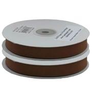 Jam PaperMD – Ruban gros-grain, 0,63 po x 25 verges, brun chocolat, 2/paquet (7896738G)