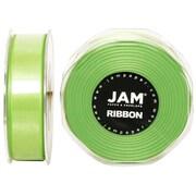 JAM PaperMD – Ruban de satin à deux faces, 88 po de largeur x 25 verges, vert lime, 2/paquet (807SAligr25g)