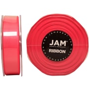 JAM PaperMD – Ruban de satin double face, 88 po de largeur x 25 verges, rose vif, 2/paquet (807SAshpi25g)
