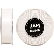 JAM PaperMD – Ruban satiné double face, 88 pouces de large x 25 verges, blanc, 2/paquet (807SAwh25g)