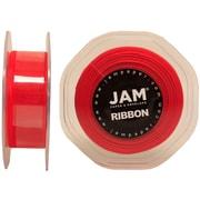 JAM PaperMD – Ruban lustré en organza, 0,88 po de largeur x 25 verges, rouge, 2/paquet (807SHre25g)