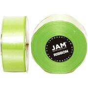 JAM PaperMD – Ruban de satin double face, 1,5 po de largeur x 25 verges, vert lime, 2/paquet (808SAligr25g)