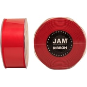 JAM PaperMD – Ruban de satin double face, 1,5 po de largeur x 25 verges, rouge, 2/paquet (808SAre25g)